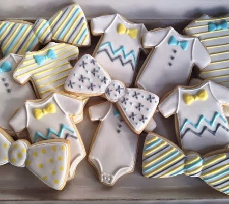 Baby & Bow Ties Cookies (for Miss Nicole)