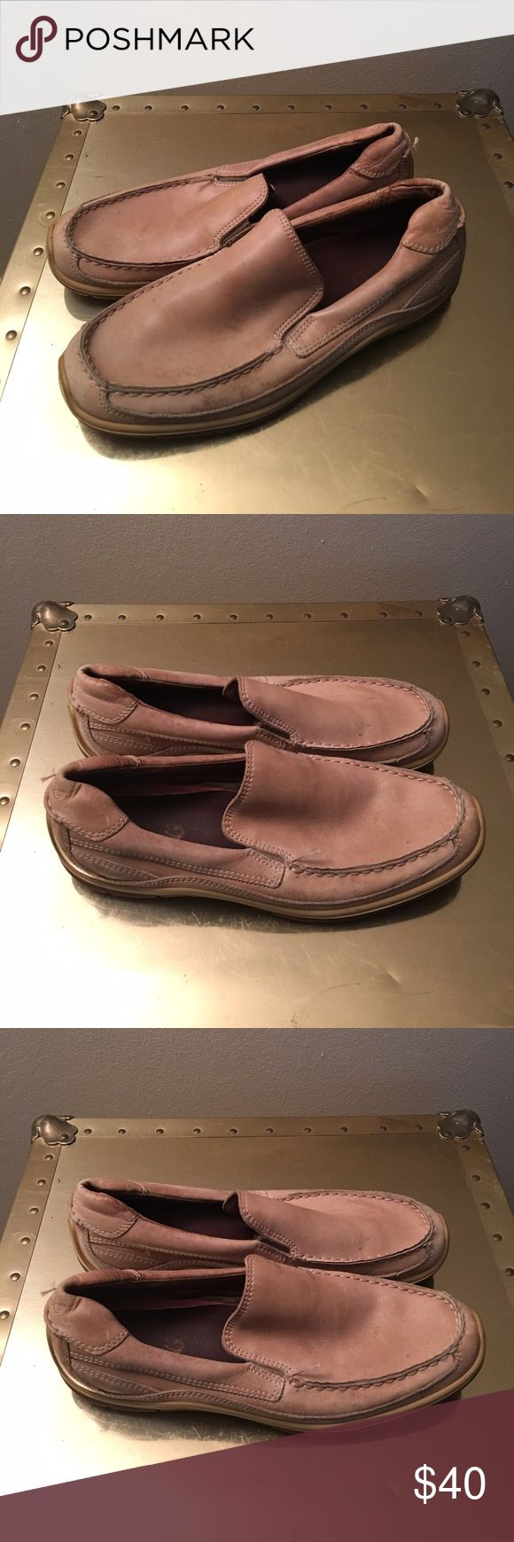 Men's Ecco shoes Size 10. Minor scuffs do to wear. Tan casual loafers. Very comfortable and has many more wears in them. Ecco Shoes
