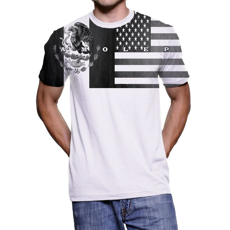 Special Edition Combo Flagshirt Mexico USA T-Shirt for Multinational People