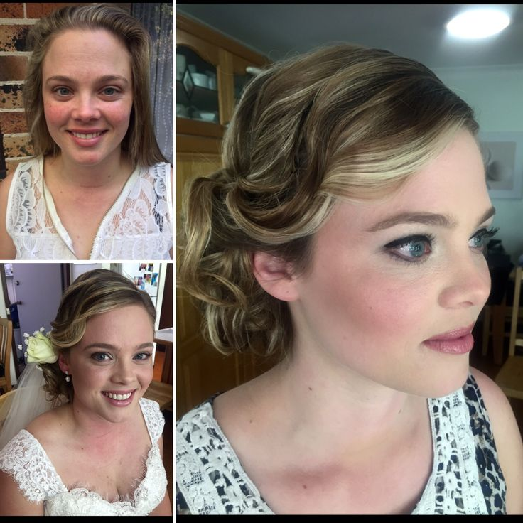 Before and after - Sydney Bridal hair and make up