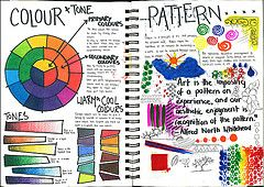 sketchbook page: color and pattern