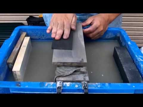 Watch Japan Sharpening Master Turn Rusty Blade Into Shiny knife Is Oddly Satisfying - YouTube