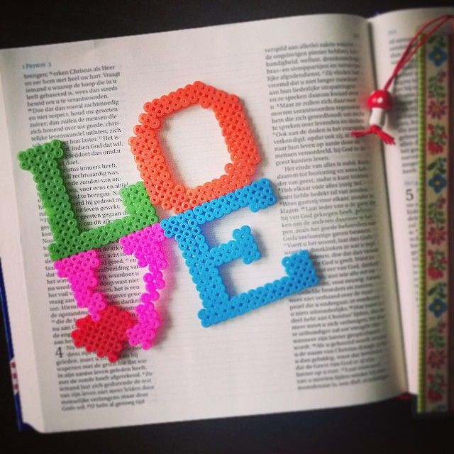 """Love each other deeply"" - Love quote hama perler beads by tamatek"
