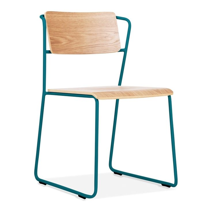 Cult Living Tram Chair Teal With Oak Or Walnut Seat Option