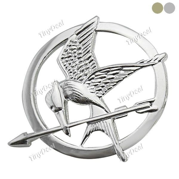 New Retro Vintage Style Mockingjay Bird Golden Silver Collar Shirt Blouse Clip Tips Brooch DJA-306482