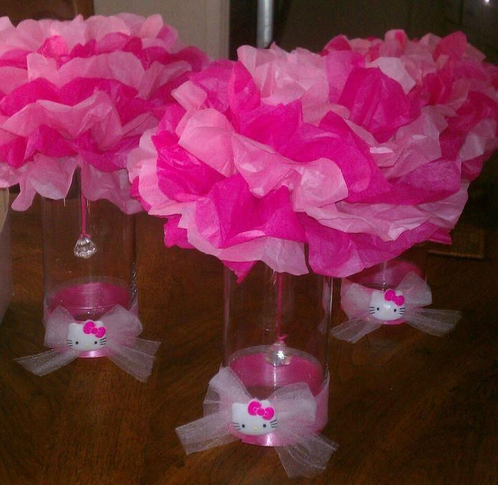 Hello Kitty Centerpieces Fatima S Birthday Party
