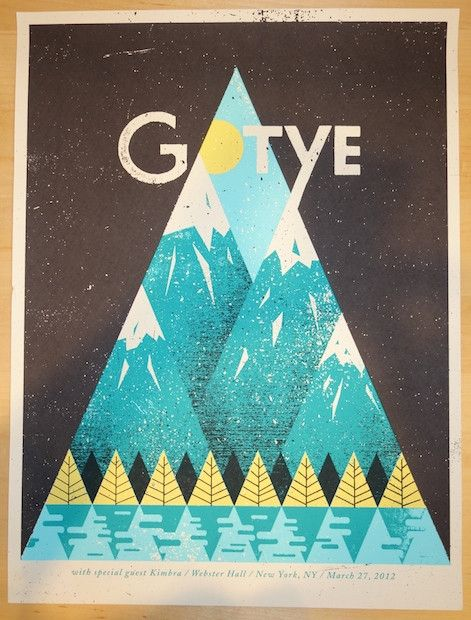 2012 Gotye - NYC Silkscreen Concert Poster by Doe Eyed Design