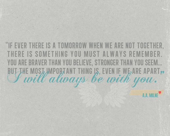 i will always be with you.