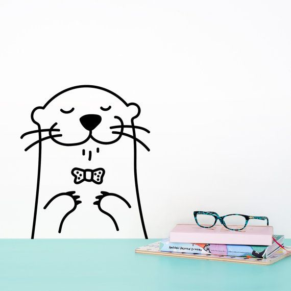Tiny Oscar the Otter Door Friend decal