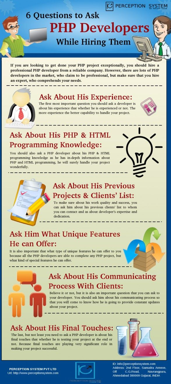 6 questions to ask your PHP web developer #infographic www.socialmediamamma.com