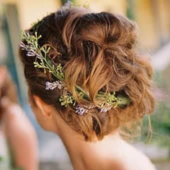 Lavender wedding hair