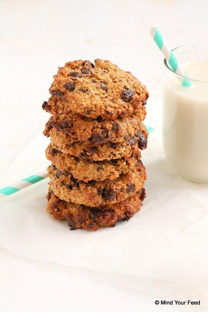 havermout koekjes met pindakaas en chocola