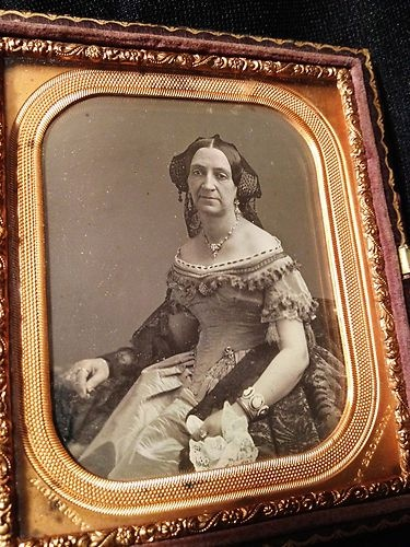 What people will say to sell something!  1850s Transvestite by J Gurney NYC Crossdresser in Elaborate Outfit 1 6 Dag