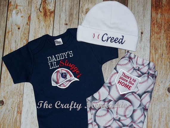 Boy Baseball Outfit Baby Boy Layette Personalized Boy