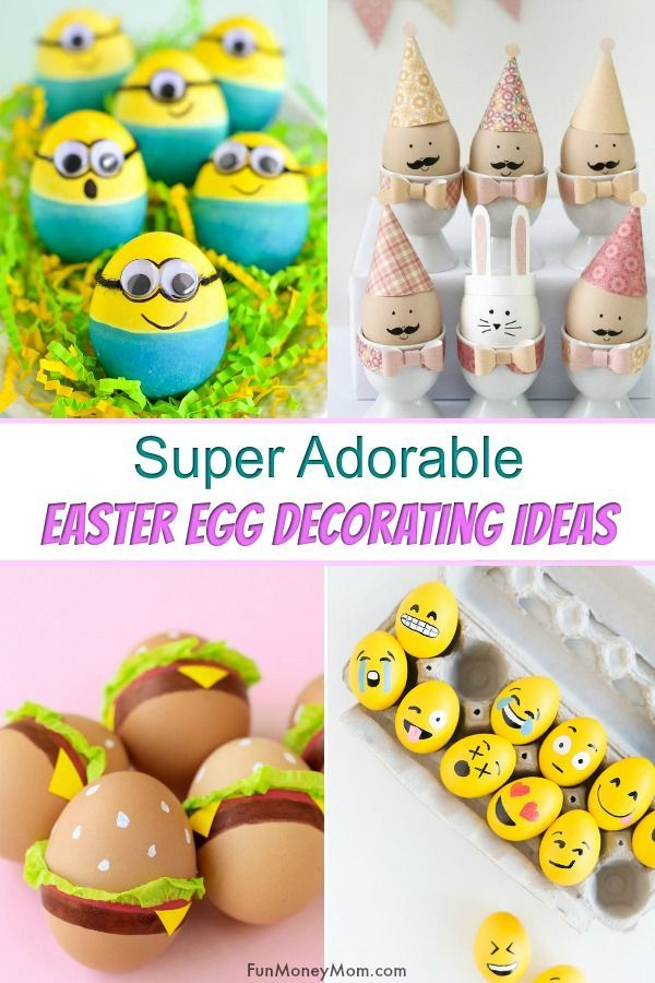 15 Super Cute Easter Egg Decorating Ideas For Kids | Egg ...