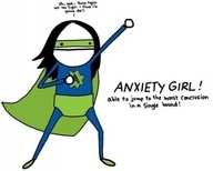 Anxiety Girl!  Able to jump to the worst conclusion in a single bound. I want this shirt.