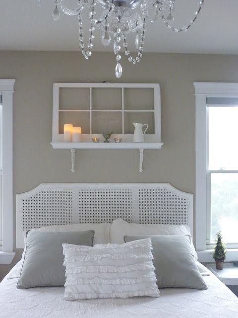 ideas de cabeceros originales hechos con ventanas y