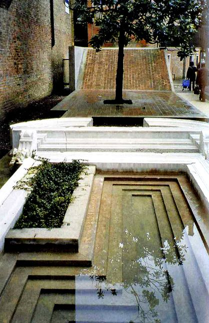 Entrance to the Courtyard of the Faculty of Architecture in Venice by Carlo Scarpa http://house-for-sale-by-owner.com/                                                                                                                                                                                 More