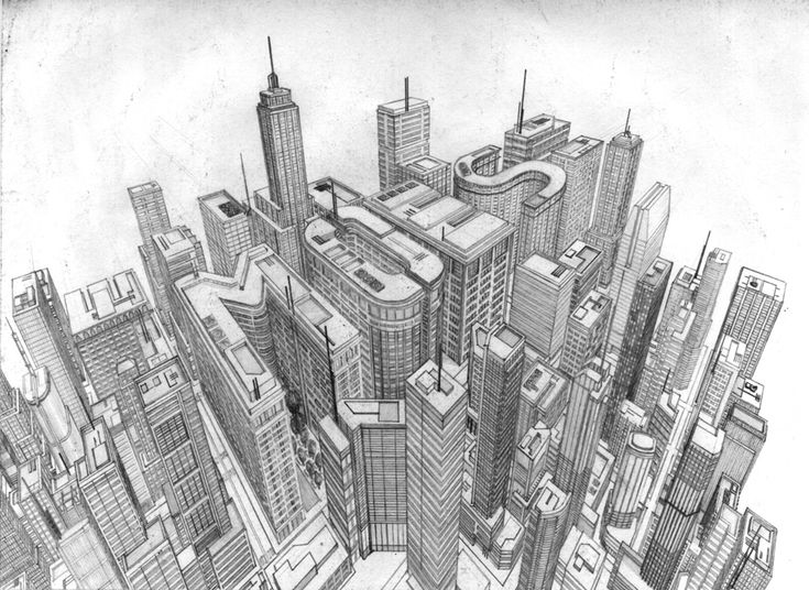 how to draw a future city