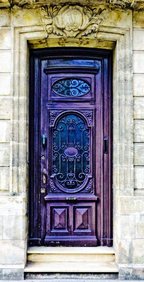 #Doors #looking for some inspirational ideas - Purple Door,Blaye, Gironde, France http://www.myrenovationmagazine.com