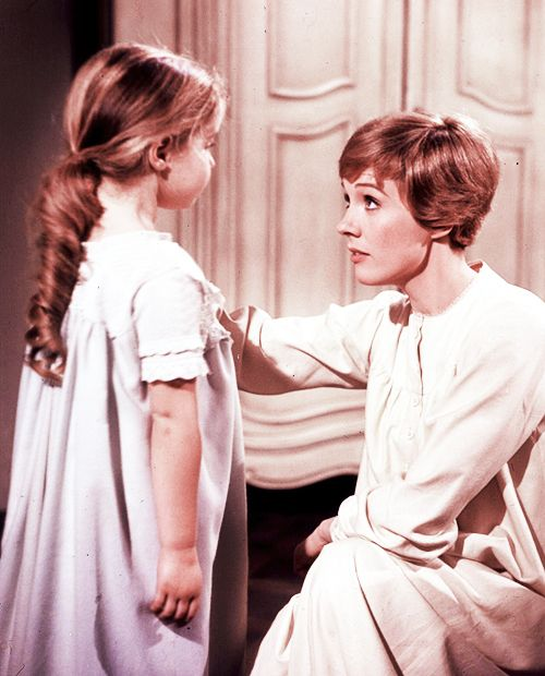 The Sound of Music - This is when Gretel runs into Maria's bedroom, because she is afraid of the thunderstorm. I LOVE GRETL's HAIR!!