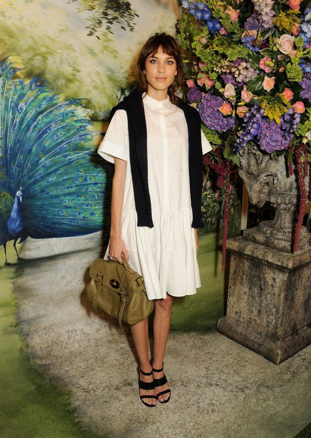 Alexa Chung at the Mulberry SS14 show. SS14 Show Guests - Journal | Mulberry