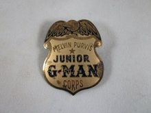 Melvin Purvis Junior G-Man Corps. Premium Badge