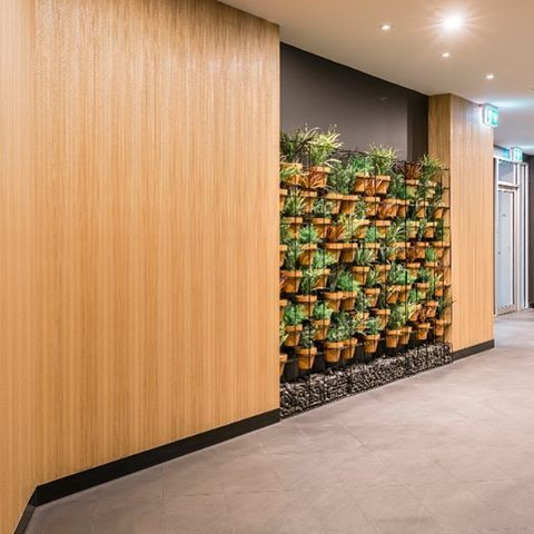 Our Lanna Vertical Garden Screen In Black And Terracotta Creating A Warm  Welcome At 501 Tower