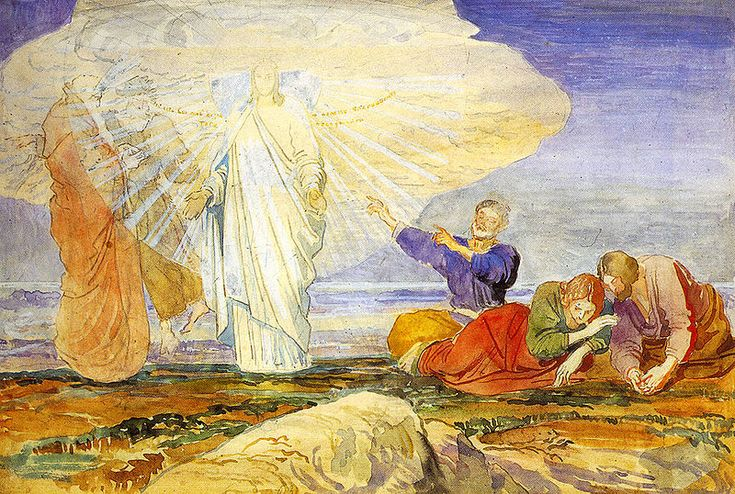 Transfiguration painted in 1824 by Alexander Andreyevich Ivanov 1806-1858, Neoclassist Russian painter from St Petersburg.