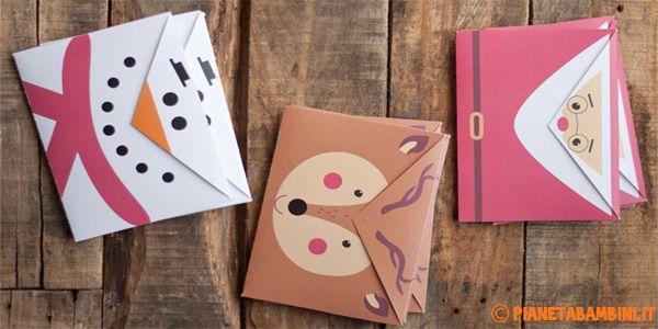 3 simpatiche buste da lettera natalizie fai da te da stampare