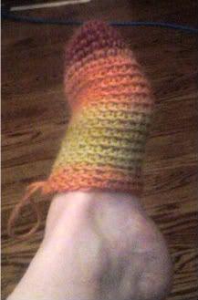 Básica ganchillo del calcetín
