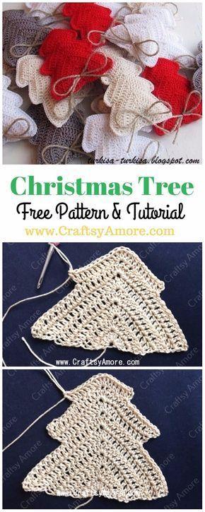 Crochet Christmas Tree Ornament Free Pattern Tutorial