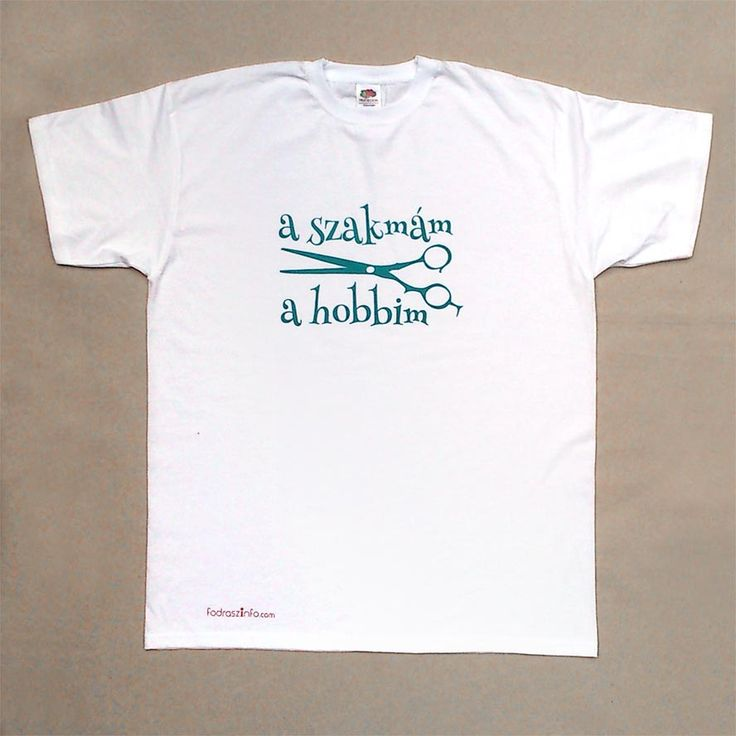 Fodrászos póló a Fodrászinfótól - Póló fodrászoknak, munkaruha A szakmám a hobbim