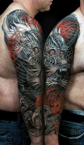 33ab0ce51 50 Chinese Dragon Tattoo Designs For Men - Flaming Ink Ideas | Cool ...