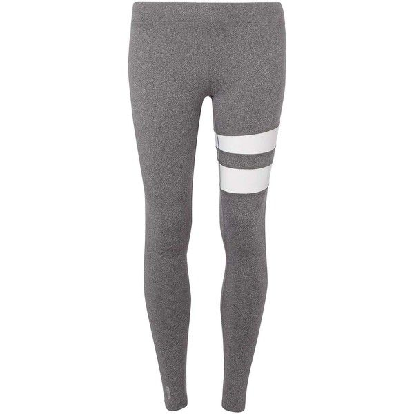 Dorothy Perkins **Only Play Stripe Gym Leggings ($49) ❤ liked on Polyvore featuring pants, leggings, grey, stripe leggings, gray leggings, stripe pants, striped leggings and striped pants