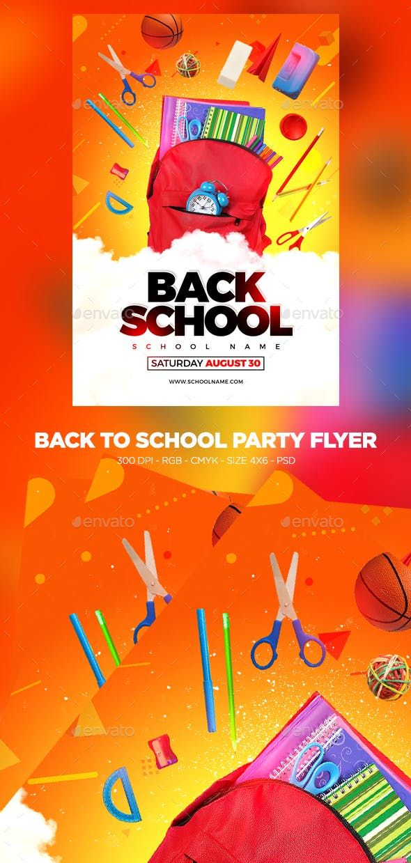 Back To School Flyer Photo Psd Poster Kid