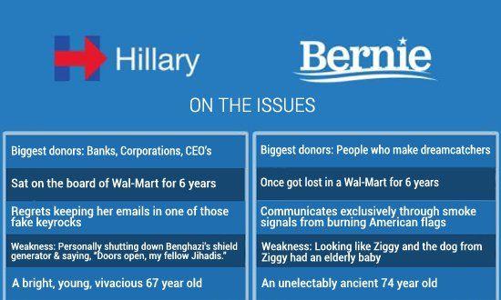 The Ultimate Bernie/Hillary Meme. Read: http://www.somethingawful.com/news/sanders-hillary-meme/