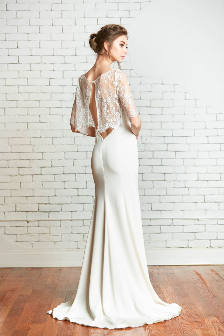 Rebecca Schoneveld Bridal Tali Lace Crop Top With The