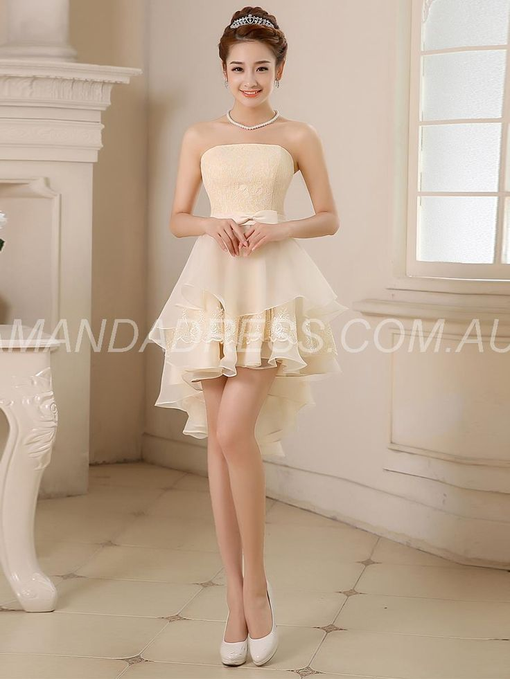 amandadress.com.au SUPPLIES Fall Sweet 16 Lace Natural Summer Yellow Asymmetry Winter Dress Long Bridesmaid Dresses