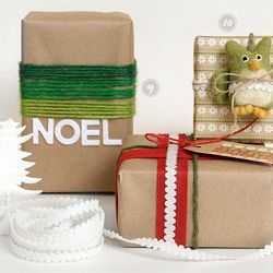 Creative and inexpensive DIY gift wrap ideas and inspiration for wrapping gifts this holiday season.