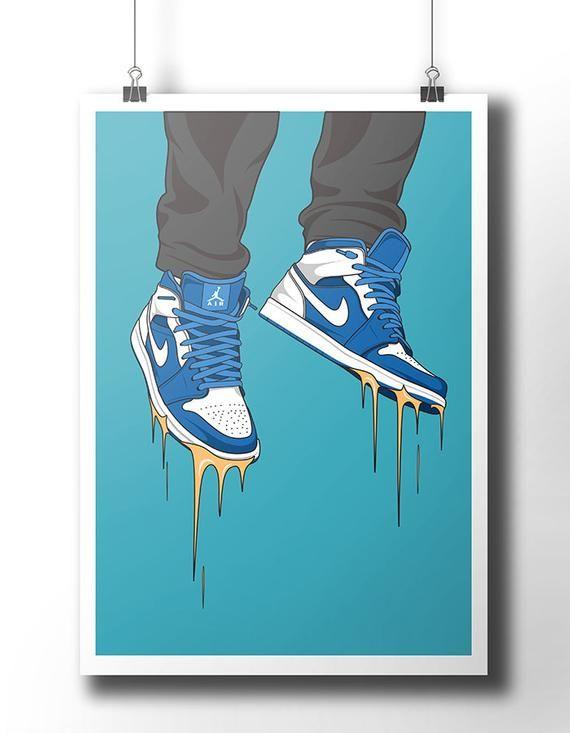 Nike Air Jordan 1 Retro sneakers Poster This is an original print ...