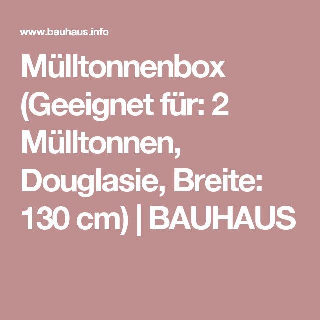 Mülltonnenbox (Geeignet für: 2 Mülltonnen, Douglasie, Breite: 130 cm) | BAUHAUS