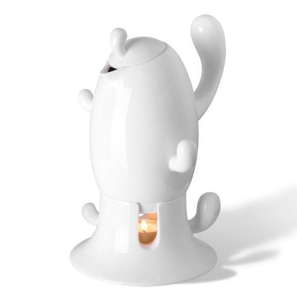 """Чай-Кофе :: Заварочные чайники :: Чайник """"Кактус"""", белый, фарфор, PO: SELECTED - Акваль.ру Лучшее для Кухни."""