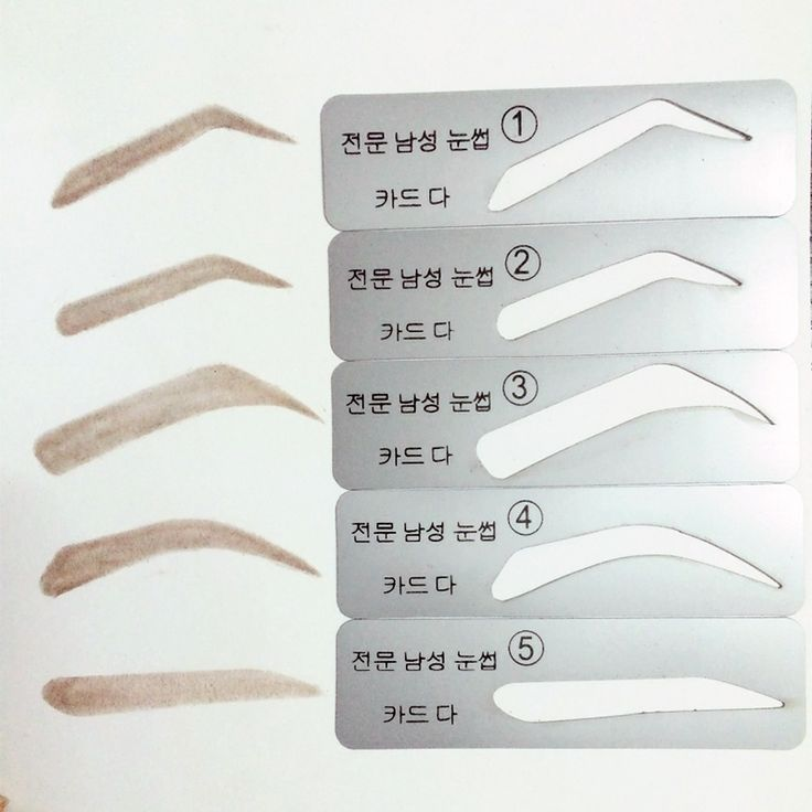 Eyebrow Stencils 5 Types Eyebrow Stencils For Man Eyebrow Template Make up Tools Stencils Free Shipping 5Pcs/set 	M03098