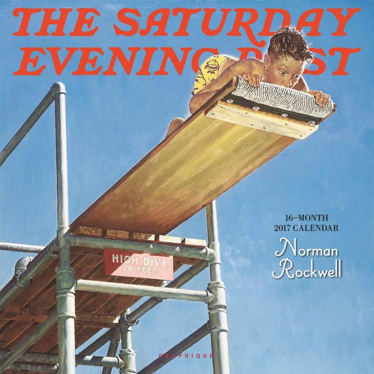 Norman Rockwell The Saturday Evening Post Calendar 2017