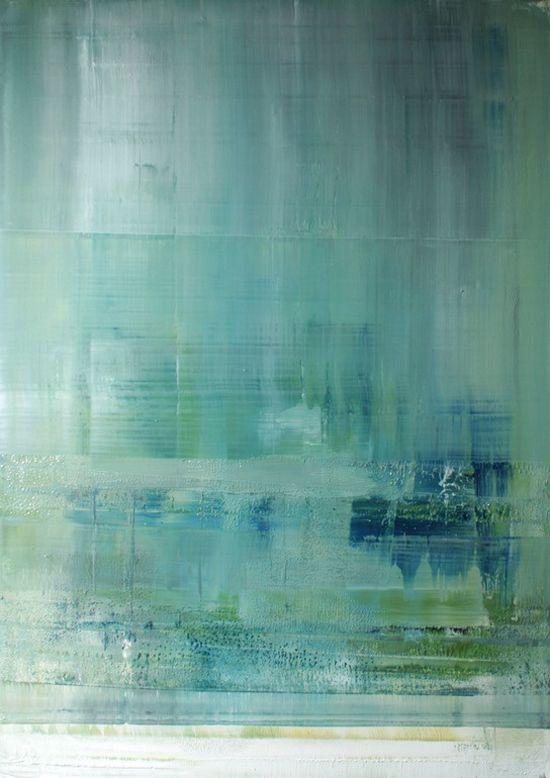 Koen Lybaert's painting. #art #turquoise #blue #abstract
