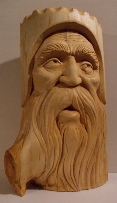 """It has been a long time, since I have done any wood carving.............I just did this one for a friend..............White Pine...15""""..High.............Greg Hand"""
