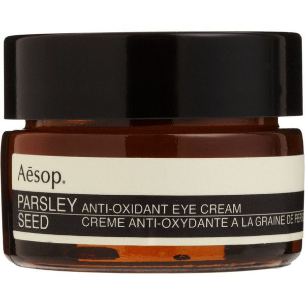 Aesop Women's Parsley Seed Anti-Oxidant Eye Cream (110 CAD) ❤ liked on Polyvore featuring beauty products, skincare, eye care, beauty, makeup, faces, filler, colorless, aesop and aesop skincare