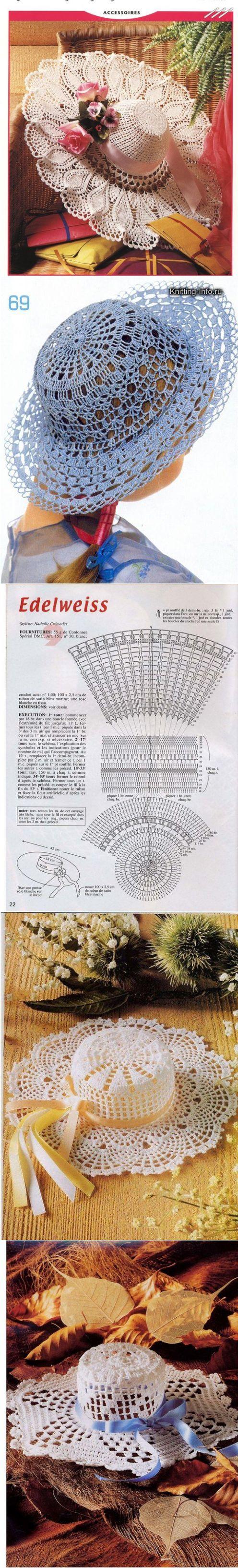 схема вязания панамы на мальчика 2-х лет крючком