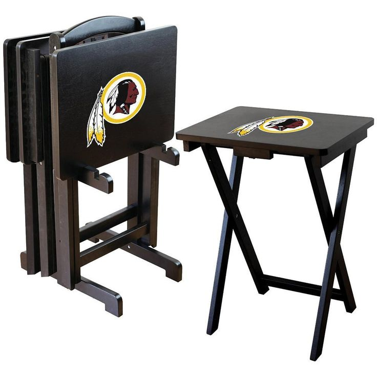 Washington Redskins NFL TV Tray Set with Rack